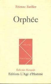 Orphee - Couverture - Format classique
