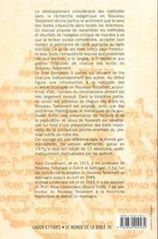 Guide pour l'etude du nouveau testament - 4ème de couverture - Format classique