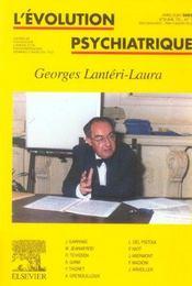 REVUE L'EVOLUTION PSYCHIATRIQUE N.70/2 ; Georges Lantéri-Laura - Intérieur - Format classique