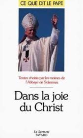 Dans la joie du Christ - Couverture - Format classique
