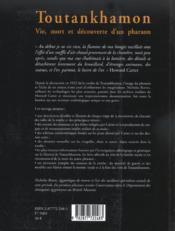Toutankhamon ; vie, mort et decouverte d'un pharaon - 4ème de couverture - Format classique