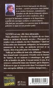 Dernier rendez-vous a vannes - 4ème de couverture - Format classique