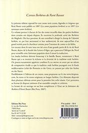 Contes berbères ; Kabylie, Aurès, Sous, Mzab, Ouargla, Figuig, Rif, Cherchel - 4ème de couverture - Format classique
