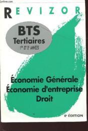 Revizor Bts Tertiaires 1e Et De Annees, Economie, Droit - Couverture - Format classique