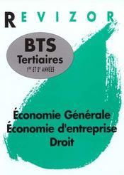 Revizor Bts Tertiaires 1e Et De Annees, Economie, Droit - Intérieur - Format classique