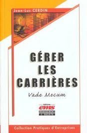 Gerer Carrieres Vade Mecum - Intérieur - Format classique
