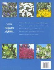 Arbustes A Fleurs - 4ème de couverture - Format classique
