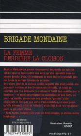 Brigade mondaine t.303 ; la femme derrière la cloison - 4ème de couverture - Format classique