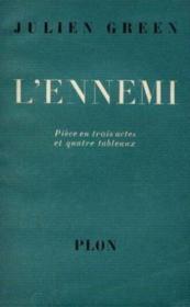 L'ennemi: pièce en trois actes et quatre tableau - Couverture - Format classique