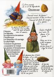 Les gnomes (édition 2010) - 4ème de couverture - Format classique