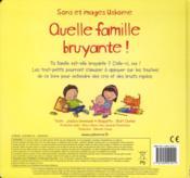 Quelle famille bruyante ! - 4ème de couverture - Format classique