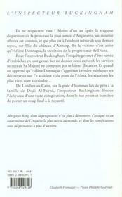 Du Sang Sur La Tombe De Diana - 4ème de couverture - Format classique