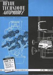 Revue Technique Automobile - N°245 - Couverture - Format classique