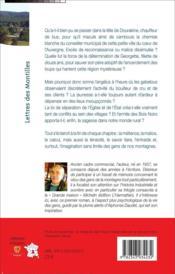Lettres des montilles - 4ème de couverture - Format classique