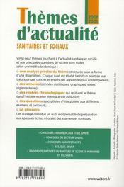 Thèmes d'actualité sanitaires et sociaux (édition 2008/2009) - 4ème de couverture - Format classique