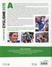 Livre d'or du cyclisme (édition 2015) - 4ème de couverture - Format classique