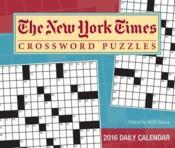 New York Times Crossword Puzzles 2016 - Couverture - Format classique