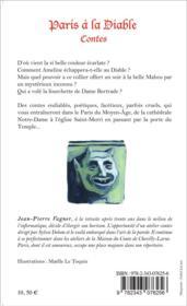 Paris à la diable - 4ème de couverture - Format classique