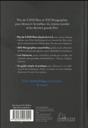 Petit Larousse des films - 4ème de couverture - Format classique