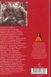 Jacques Prévert ; inventaire d'une vie - 4ème de couverture - Format classique