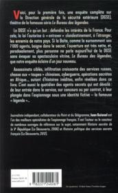 Histoire secrète de la DGSE - 4ème de couverture - Format classique