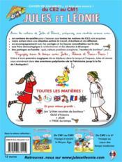 Cahier de vacances Jules et Léonie ; du CE2 au CM1 - 4ème de couverture - Format classique
