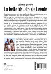 La belle histoire de Léonie - 4ème de couverture - Format classique