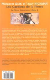 La pierre souveraine T.2 ; les gardiens de la pierre - 4ème de couverture - Format classique
