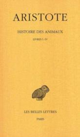 Histoire des animaux t.1 ; L1-4 - Couverture - Format classique