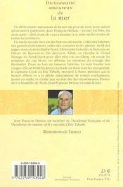Dictionnaire amoureux ; de la mer et de l'aventure - 4ème de couverture - Format classique
