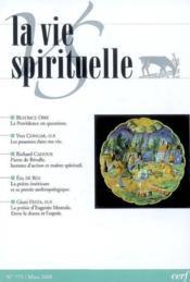 La vie spirituelle n 775 - Couverture - Format classique