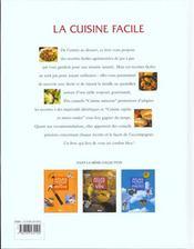 La Cuisine Facile - 4ème de couverture - Format classique