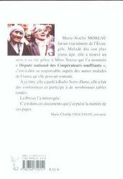 Marie-Noelle Moreau, Disciple De Mere Teresa - Comment Vivre Notre Souffrance - 4ème de couverture - Format classique