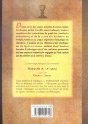 Pierre et le graal (la) - 4ème de couverture - Format classique