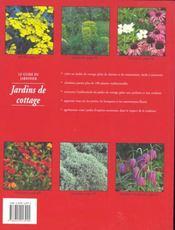 Le Petit Jardin De Campagne - 4ème de couverture - Format classique