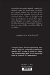 Manuel d'improvisation théâtrale - 4ème de couverture - Format classique