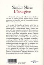 L'étrangère - 4ème de couverture - Format classique
