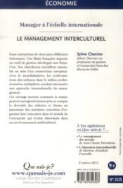 Le management interculturel (3e édition) - 4ème de couverture - Format classique