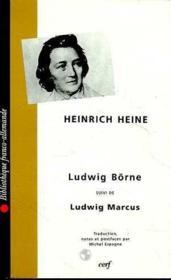 Ludwig Börne ; Ludwig Marcus - Couverture - Format classique