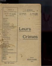 Leurs Crimes - Couverture - Format classique