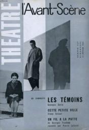 L'AVANT-SCENE - THEATRE N° 259 - LES TEMOINS de GEORGES SORIA - Couverture - Format classique