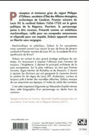 Le cardinal Dubois - 4ème de couverture - Format classique