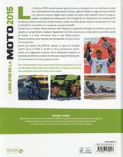 Livre d'or de la moto (édition 2015) - 4ème de couverture - Format classique
