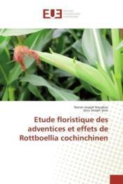 Etude floristique des adventices et effets de rottboellia cochinchinen - Couverture - Format classique