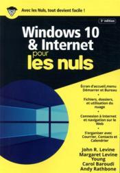 Windows 10 et internet mégapoche pour les nuls (5e édition) - Couverture - Format classique