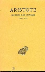Histoire des animaux t.2 ; L5-7 - Couverture - Format classique