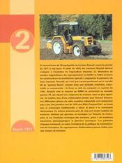 Encyclopedie Du Tracteur Renault Depuis 1971 Tome 2 - 4ème de couverture - Format classique