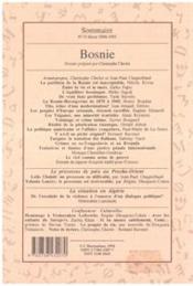 Confluences Mediterranee N°13 1995 Bosnie - 4ème de couverture - Format classique