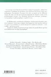 La Mediterranee - 4ème de couverture - Format classique