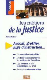 Metiers de la justice (les) - Intérieur - Format classique
